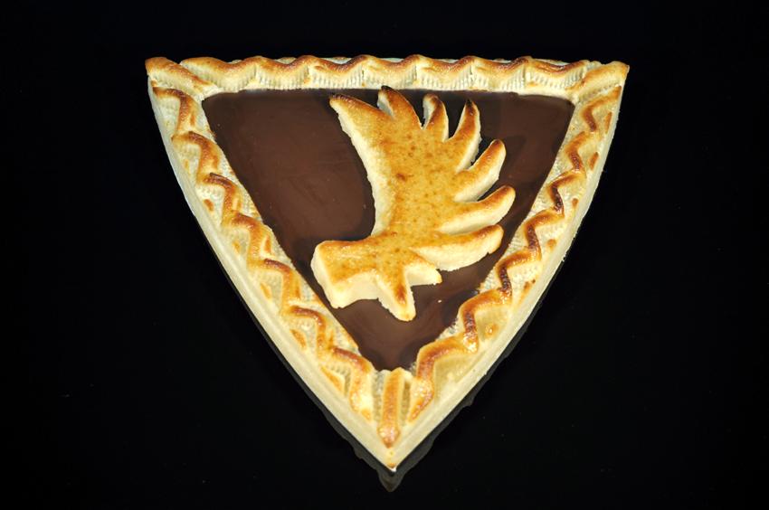 Königsberger Marzipan Torte - Dreieck - Elchschaufel Kuvertüre 400 g