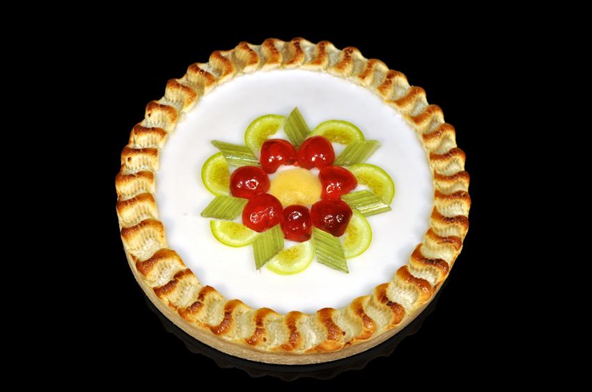 Königsberger Marzipan Torte - rund - Fondant & kandierte Früchte 460 g