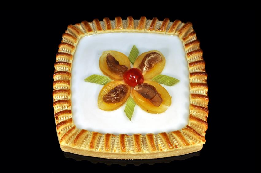 Königsberger Marzipan Torte - Viereck - Fondant & kandierte Früchte 410 g