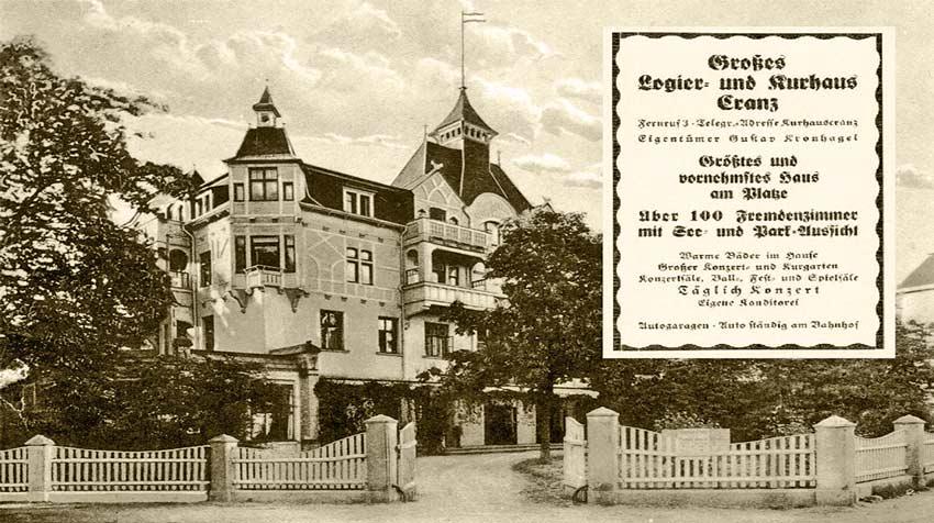 Großes Logier- und Kurhaus in Cranz / Ostpreußen